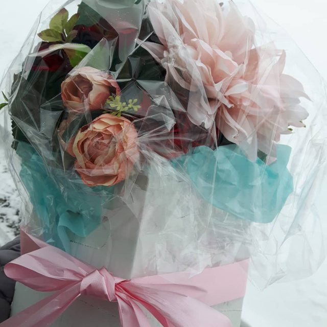 Bouquet for todays wedding!!! Wrapped and delivered!