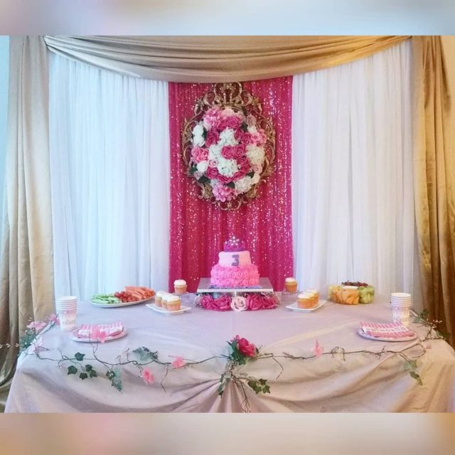 Another Basic Backdrops option Sequin center with frame and customhellip